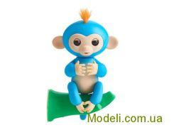 Ручная обезьянка на батарейках Happy Monkey интерактивная (синий)