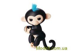 Ручная обезьянка на батарейках Happy Monkey интерактивная (чёрный)