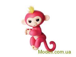 Ручная обезьянка на батарейках Happy Monkey интерактивная (розовый)