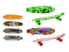 Скейт TOI-TOYS 62358 60 см с принтами и большими колесами 6 цветов