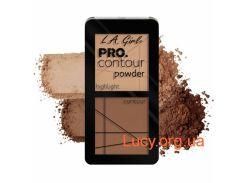 Пудровая палетка для контурирования LA Girl - PRO Contour Powder (Medium)