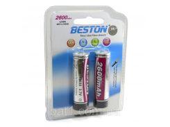 Аккумулятор Beston 18650 2600mAh Li-ion, 2шт