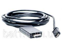 Видео кабель PowerPlant HDMI - micro USB, 1.8м, (MHL), Blister