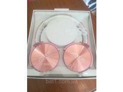 Беспроводные наушники Bluethooth Aspor MDR-XB-1000 BT Extra Bass розовое-золото