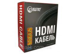 Extradigital Видео кабель HDMI to HDMI, 20m, Double ferrites, nylon, позолоченные коннекторы, 1.4b V