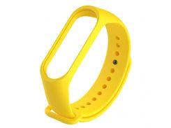 Ремешок для фитнес браслета Xiaomi Mi Band 3 желтый