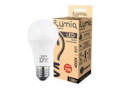 Светодиодная лампа Ilumia низковольтная 10Вт, 24В Цоколь Е27, 4000К (нейтральный белый), 1000Лм (075)