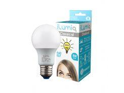 Светодиодная лампа Ilumia 8Вт, цоколь Е27, 3000К (теплый белый), 800Лм (008)