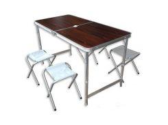 Раскладной стол для пикника со стульями 120Х60Х70 см(2 режима высоты)Folding Table(0568)