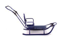 Санки Adbor Piccolino Standart со спинкой + Ручка Фиолетовые(2T5016-S)