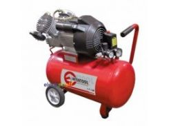 Компрессор 50 л, 4 HP, 3 кВт, 220 В, 8 атм, 420 л/мин, 2 цилиндра PT-0007 Intertool