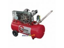 Компрессор 100 л, 4 HP, 3 кВт, 220 В, 8 атм, 500 л/мин, 2 цилиндра PT-0014 Intertool