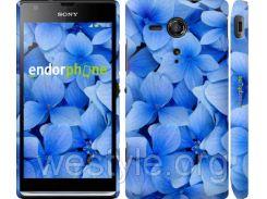 """Чехол на Sony Xperia SP M35H Синие цветы """"526c-280-2448"""""""
