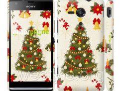 "Чехол на Sony Xperia SP M35H Новогодняя елка ""4198c-280-2448"""