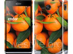"Чехол на Sony Xperia SP M35H Мандарины ""3310c-280-2448"""