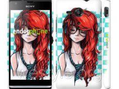"""Чехол на Sony Xperia SP M35H Рыжеволосая девушка """"1009c-280-2448"""""""