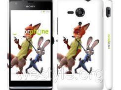 "Чехол на Sony Xperia SP M35H Зверополис v2 ""3419c-280-2448"""