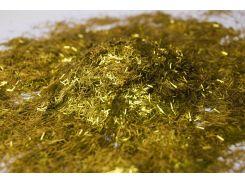 Блестки золото полоска, глиттер 0,2х2мм