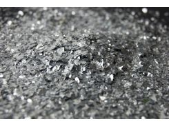 Блестки серебро бесформенное, глиттер от 1 до 7мм