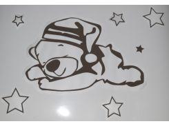 Трафарет Мишка и звезды А1