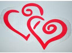 Трафарет Два сердца А3