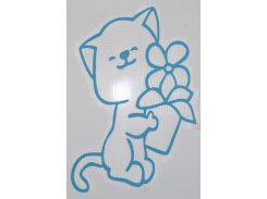 Трафарет Кот с цветком 164 А2