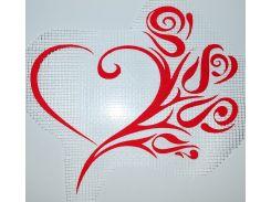 Трафарет Сердце с цветком А3