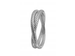 Кольцо CC 800-1.11.A/59 Twin Snake silver
