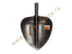 Лопата совковая щебеночная из рельсовой стали.
