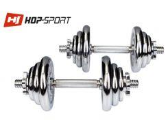 Гантели хромированные Hop-Sport 2х10кг  для дома и спортзала
