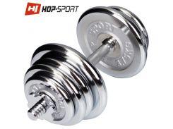 Гантеля хромированная Hop-Sport 20кг для дома и спортзала
