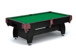 Бильярдный стол VIP Extra 8FT black-green с сетками