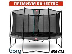 Батуты детские и для взрослых BERG Champion Grey 430 см Safety Net Comfort Голландия. ПРЕМИУМ СЕГМЕНТ
