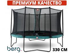 Батуты детские и для взрослых BERG Champion Green 330 см с сеткой Comfort Голландия. ПРЕМИУМ СЕГМЕНТ