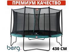 Батуты детские и для взрослых BERG Champion Green 430 см Safety Net Comfort Голландия. ПРЕМИУМ СЕГМЕНТ