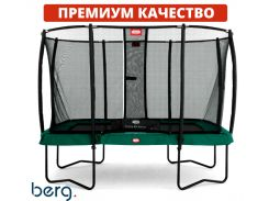 Батут квадрат Berg Ultim Champion Regular 11 Ft Green + защитная сетка Safety Net Deluxe