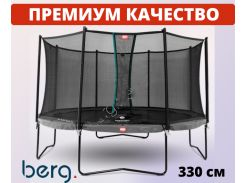 Батут BERG Champion Grey 330+Safety Net Comfort (35.41.23.01 + 35.74.11.02)