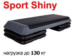 Степ-платформа профессиональная 3-ступенчатая Sport Shiny SS6038