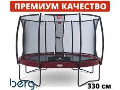 Батут BERG Elite 330 red  с защитной сеткой Deluxe