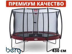 Батут BERG Elite 430 red с защитной сеткой Deluxe