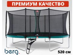 Батут BERG Grand Favorit 520 Green с защитной сеткой Comfort