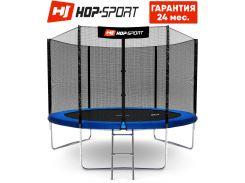 Батуты детские и для взрослых Hop-Sport 305 см. Синий с внешней сеткой - 3 ножки, Германия. Гарантия 24 мес.