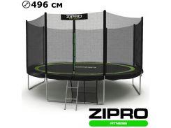 Батуты детские и для взрослых с внешней сеткой Zipro Fitness 496 см. Гарантия 12 мес