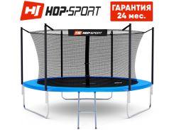 Батуты детские и для взрослых Hop-Sport 305 см. Синий с внутренней сеткой - 3 ножки, Германия. Гарантия 24 мес.