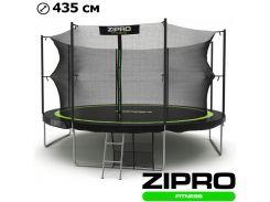 Батуты детские и для взрослых с внутренней сеткой Zipro Fitness 435 см. Гарантия 12 мес