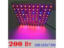 Светодиодный светильник для растений, 200 Вт с линзами 60 градусов