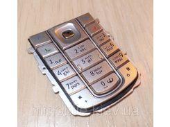 Клавиатура кнопки для Nokia 6230i серебристая