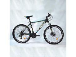 """Велосипед кросс-кантри Ardis CROSS 3000 MTB / рама 19"""" черный/голубой/желтый"""