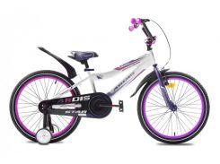 """Велосипед детский двухколесный Ardis Star BMX 18"""" Белый/фиолетовый"""