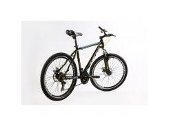 """Велосипед кросс-кантри Ardis CROSS 3000 MTB / рама 17"""" черный/голубой/желтый"""